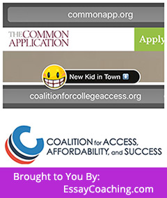 Coalition Joins/Vs. Common App to Help #College Bound