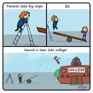 College admission essay humor