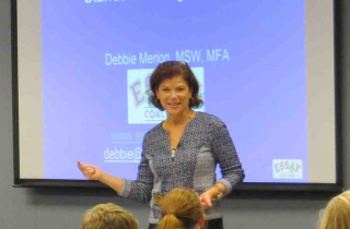 Debbie Merion teaching about college essays