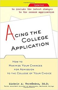 Acing the college application book cover