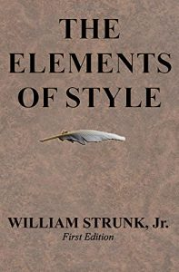 The Elements of Style, by William Strunk, Jr. Book cover.