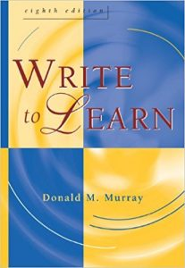 Write to learn, by Donald M. Murray. Book cover.