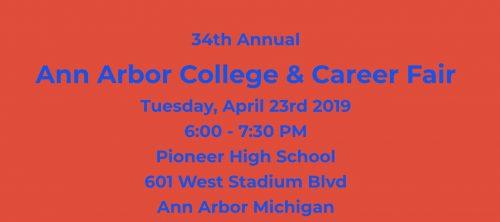 April 23, 2019 Ann Arbor College and Career Fair